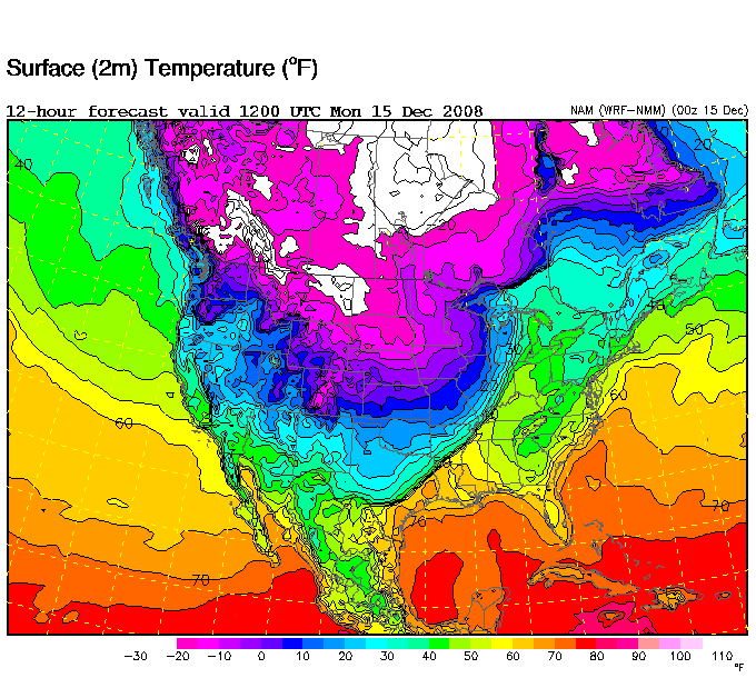 Very Strong Cold Front The Alabama Weather Blog - Us-front-map