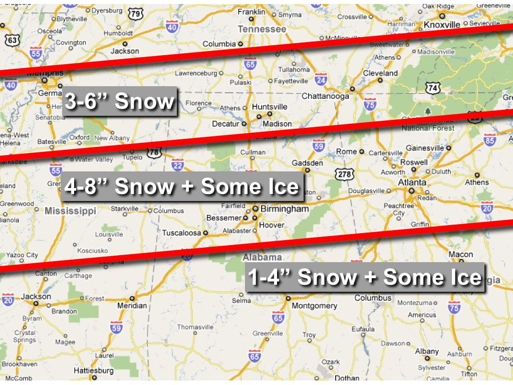 Snow/Ice Threat Sunday/Monday