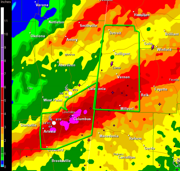 Flash Flood Warning Lamar County : The Alabama Weather Blog