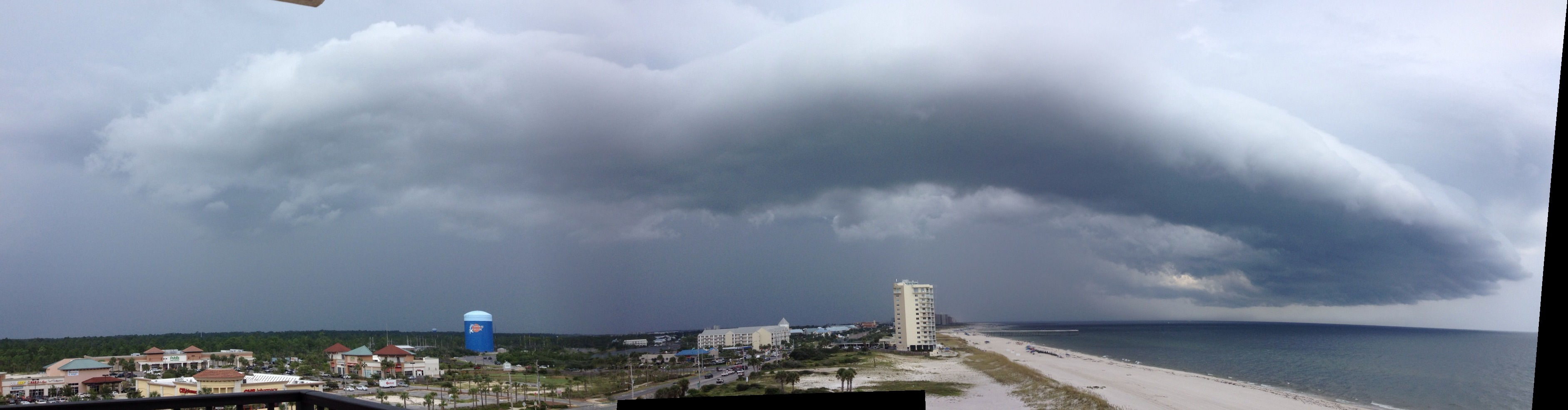 Gorgeous Shelf Cloud from Orange Beach