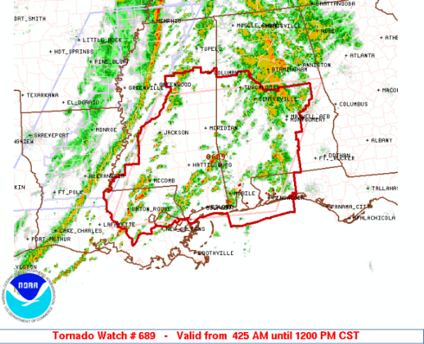 Tornado Watch until Noon