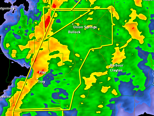Severe Thunderstorm Warning : Bullock/Pike Counties until 1130PM