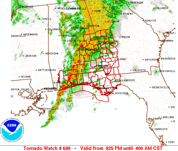 New Tornado Watch Issued until 4 AM CST
