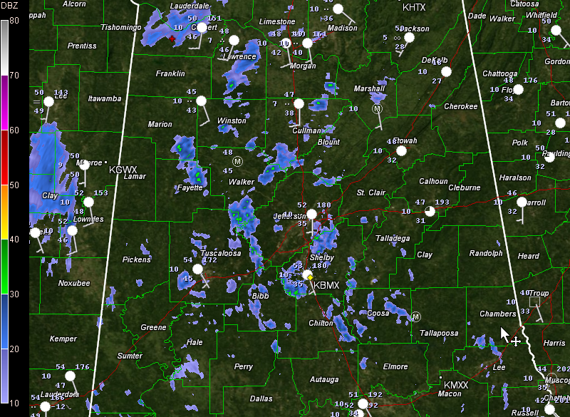 Evening Update: A Few Light Showers For Now