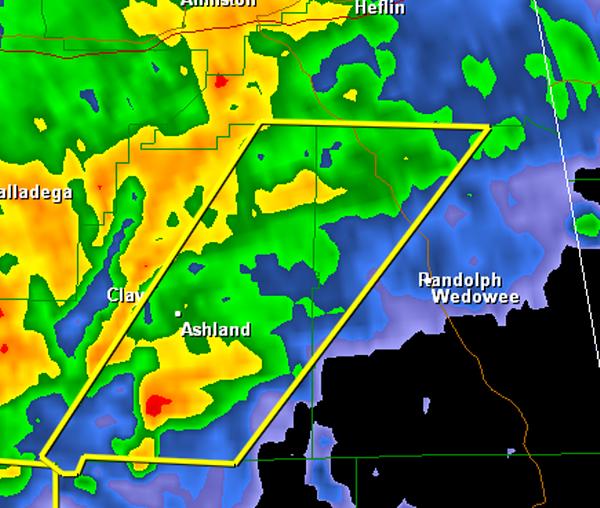 Severe Thunderstorm Warning : Clay/Randolph until 11:15 AM