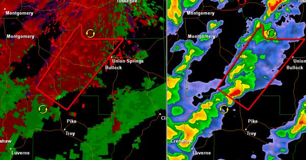 Tornado Warning : Bullock/Montgomery/Pike