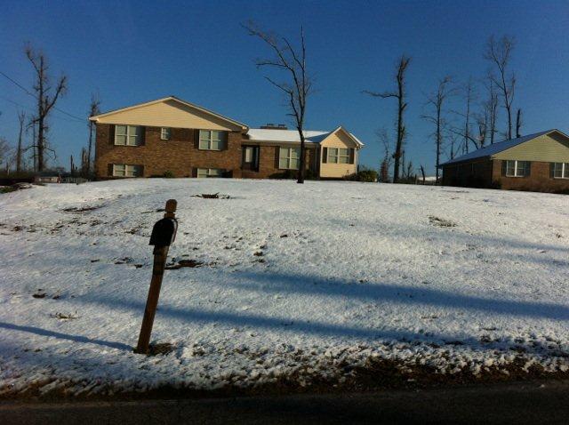 Snow Over A Tornado Path