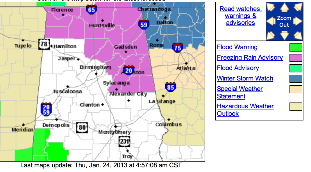 Freezing Rain Advisory Late Tonight/Early Tomorrow