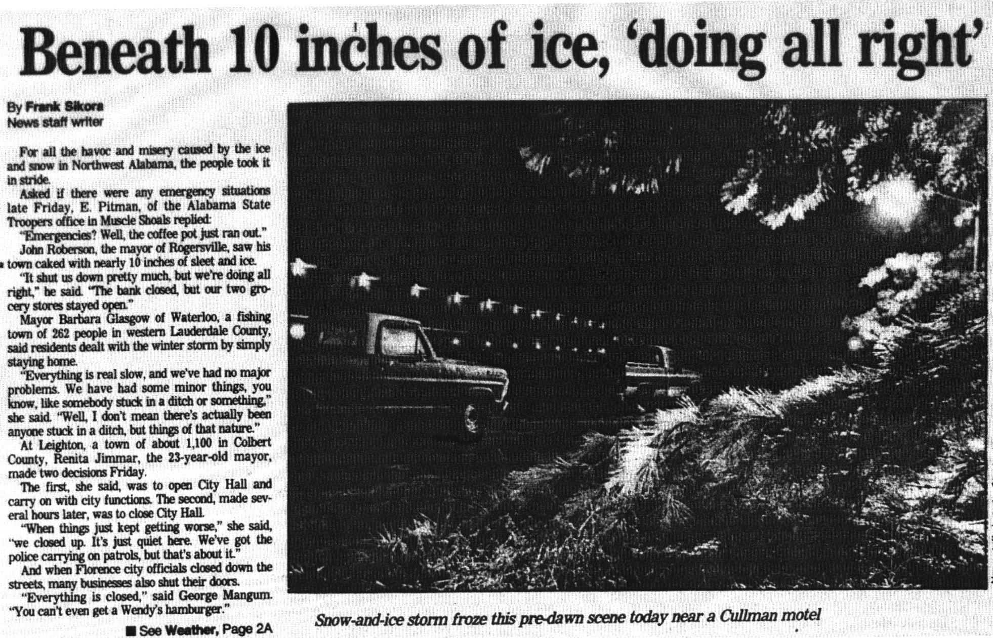 The 1985 Northwest Alabama Winter Storm