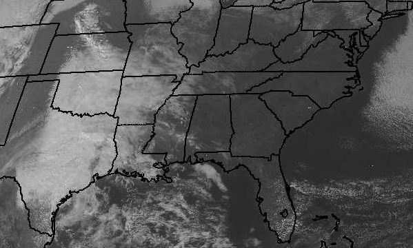 Sunny Skies, but Couds to our West
