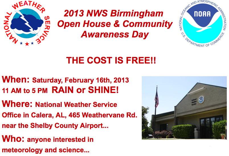NWS Open House This Saturday!