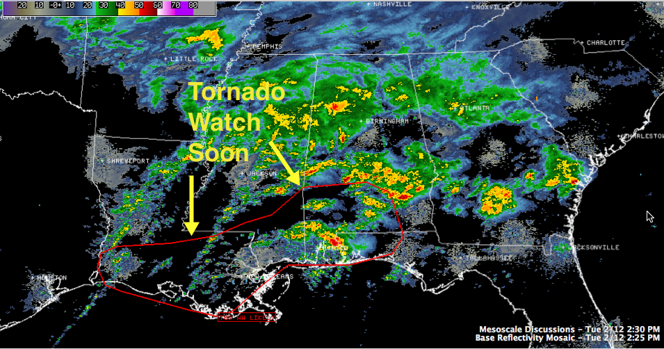 Tornado Watch Soon to the South