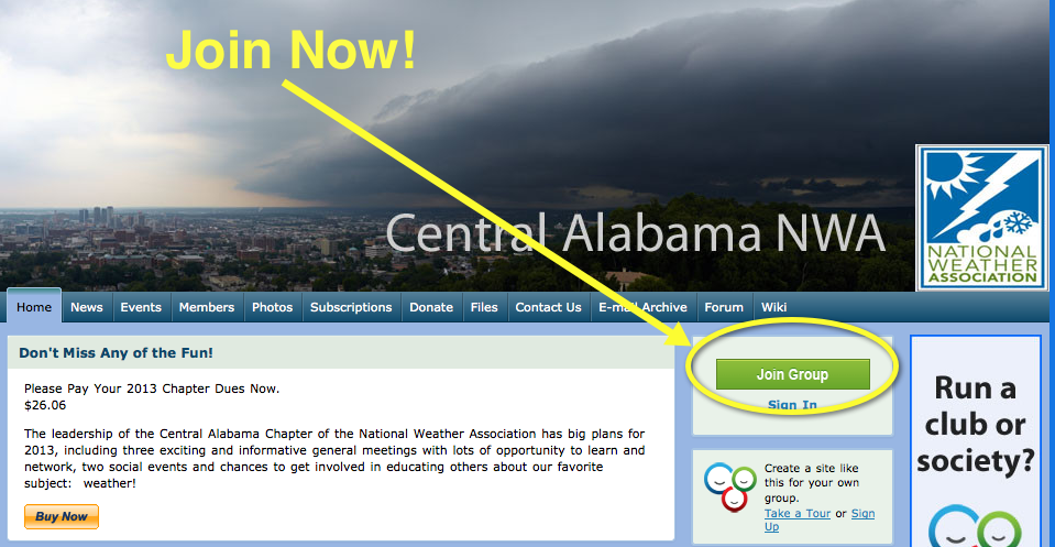 The Central Alabama National Weather Association Chapter Wants You!