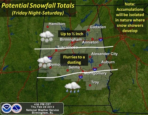 Light Snow Accumulation Possible