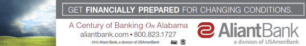 Aliant Bank is a proud sponsor of AlabamaWX.com!