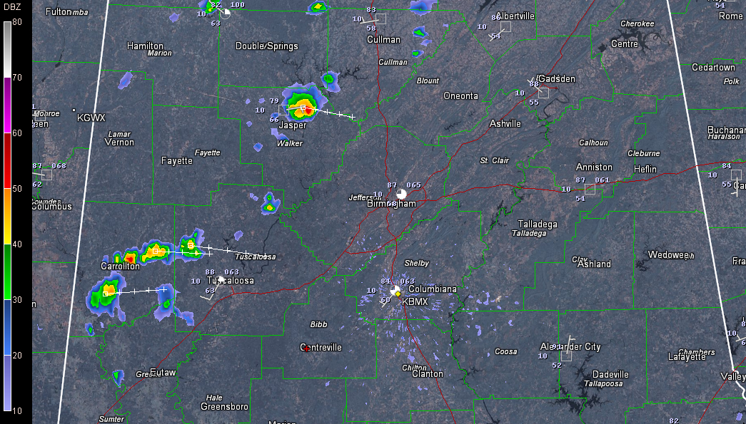 Isolated Showers Forming
