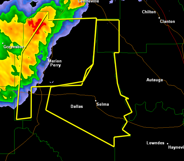 Severe Thunderstorm Warning Chilton/Dallas til 9 PM