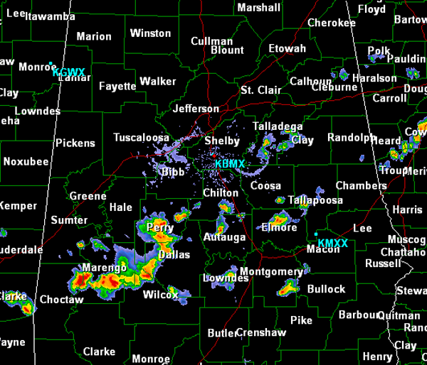 Scattered Storms to the South