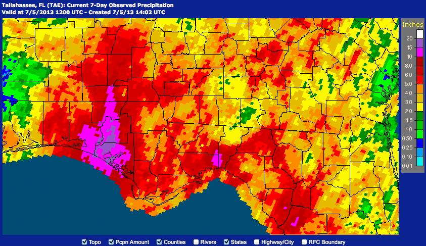 Some Crazy Rainfall Totals