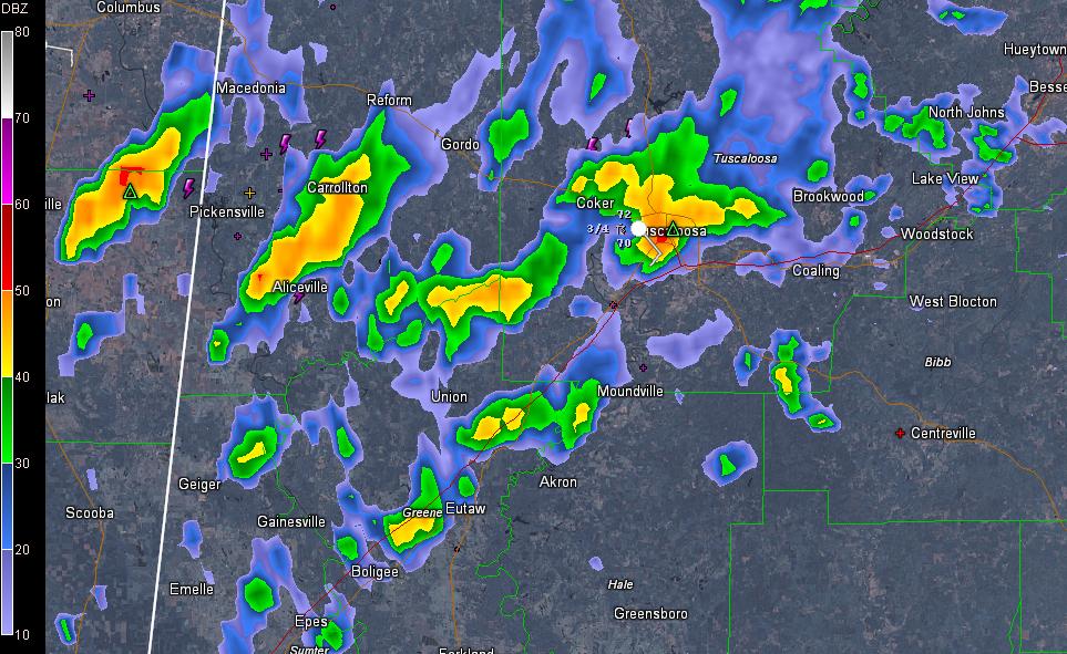 Heavy Rain in Tuscaloosa Area