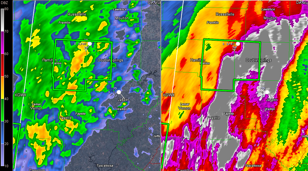 Flash Flood Warning for Parts of Marion and Winston