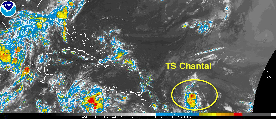 Tropical Storm Chantal Forms