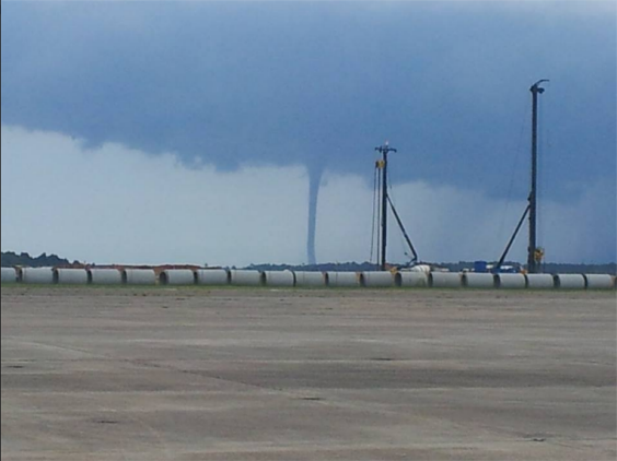 Waterspouts on Mobile Bay