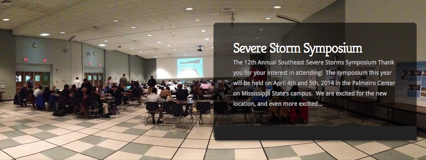 Miss. St. Severe Storms Symposium Coming Up April 4th-5th