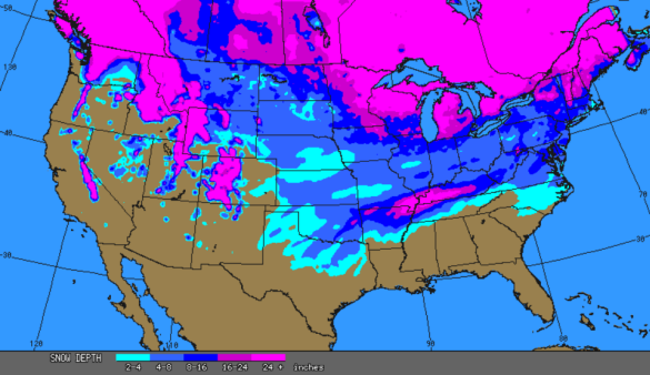 Current U.S. Snow Cover | The Alabama Weather Blog - Mobile