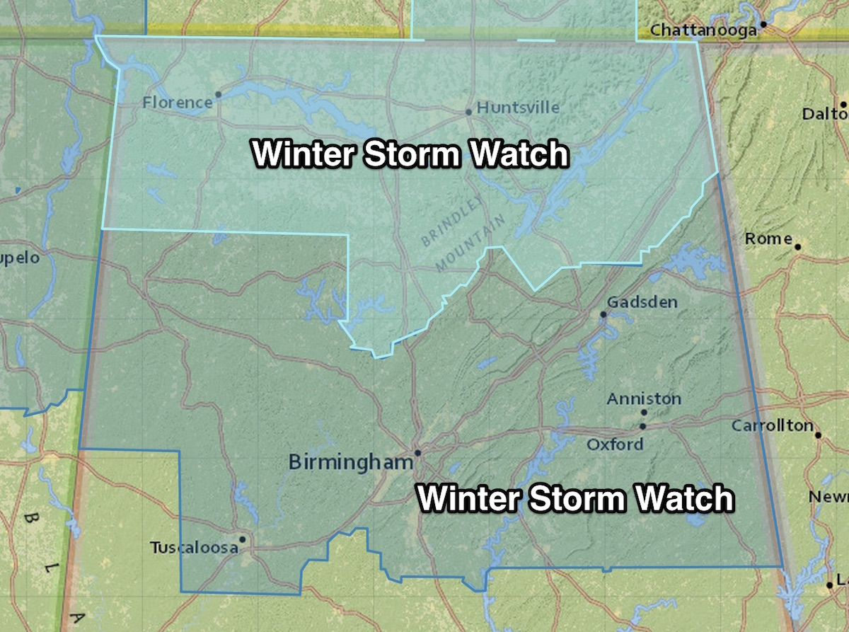 Winter Storm Watch Issued