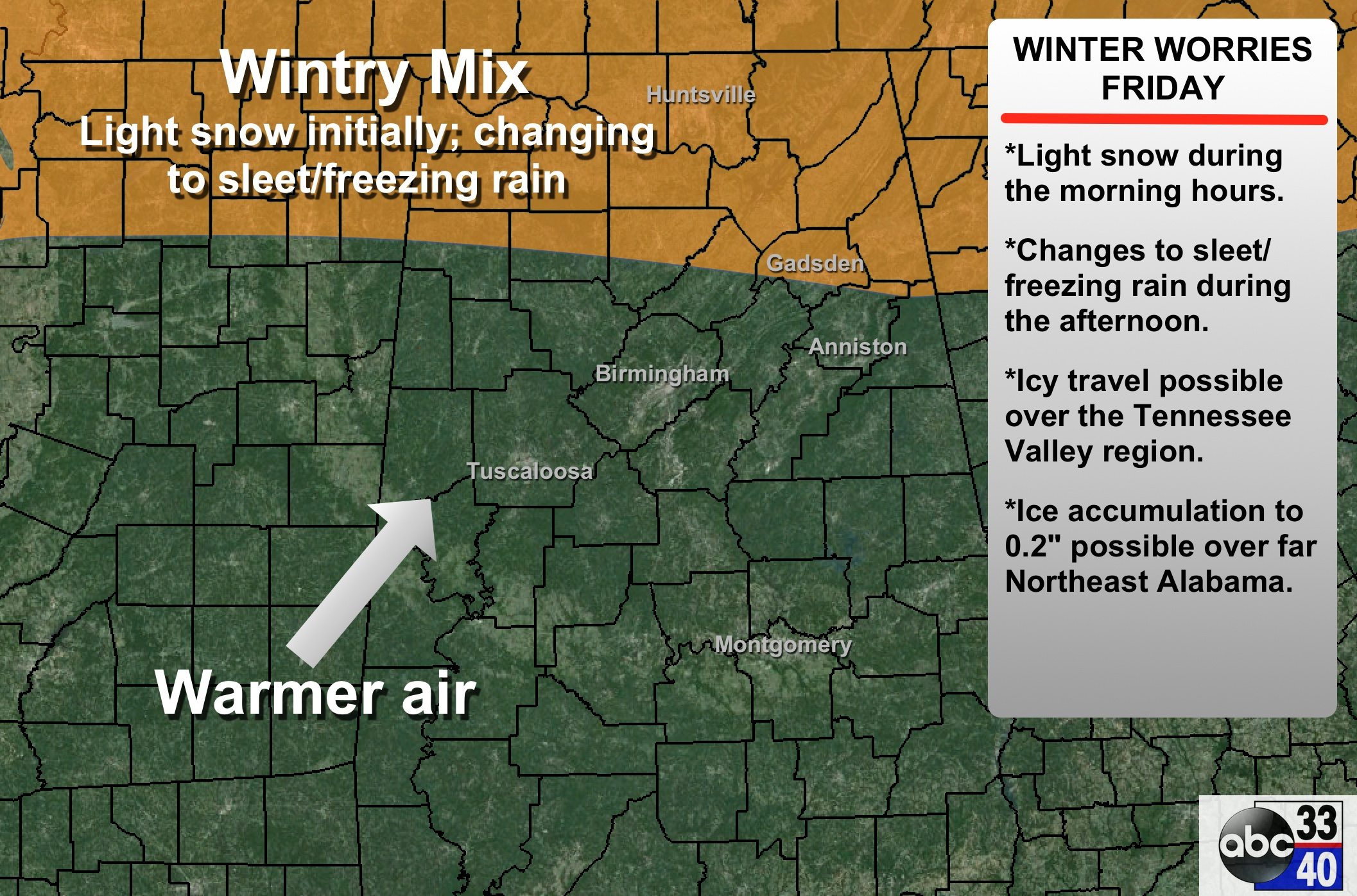 Winter Weather Issues For North Alabama | The Alabama