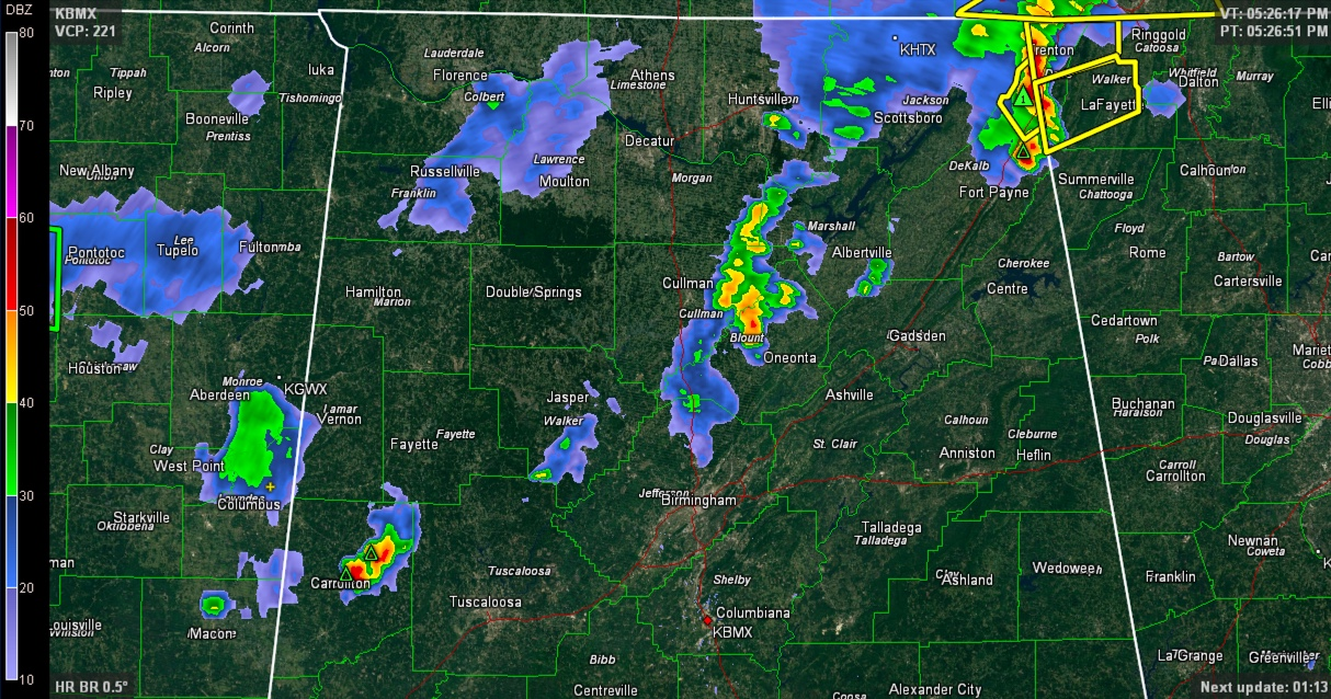 Tracking Strong Storms
