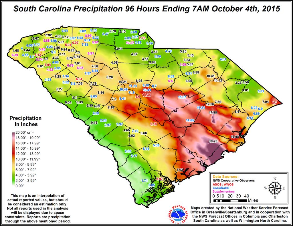 South Carolina Weather Map South Carolina Flooding | The Alabama Weather Blog   Mobile