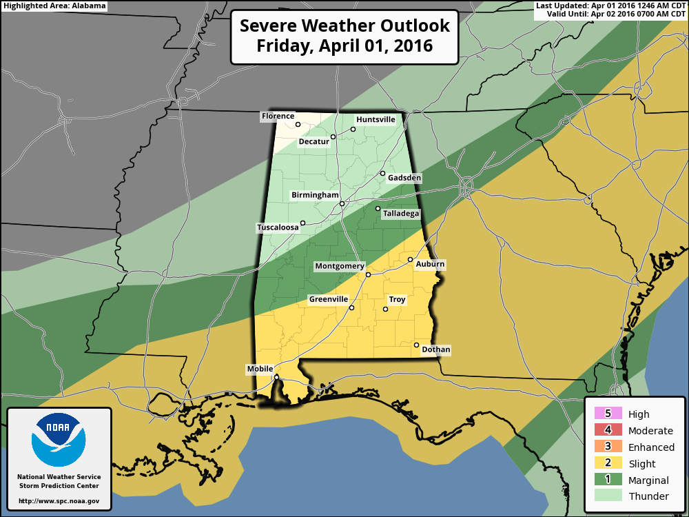 Severe Weather Risk Today – South Alabama   The Alabama ...