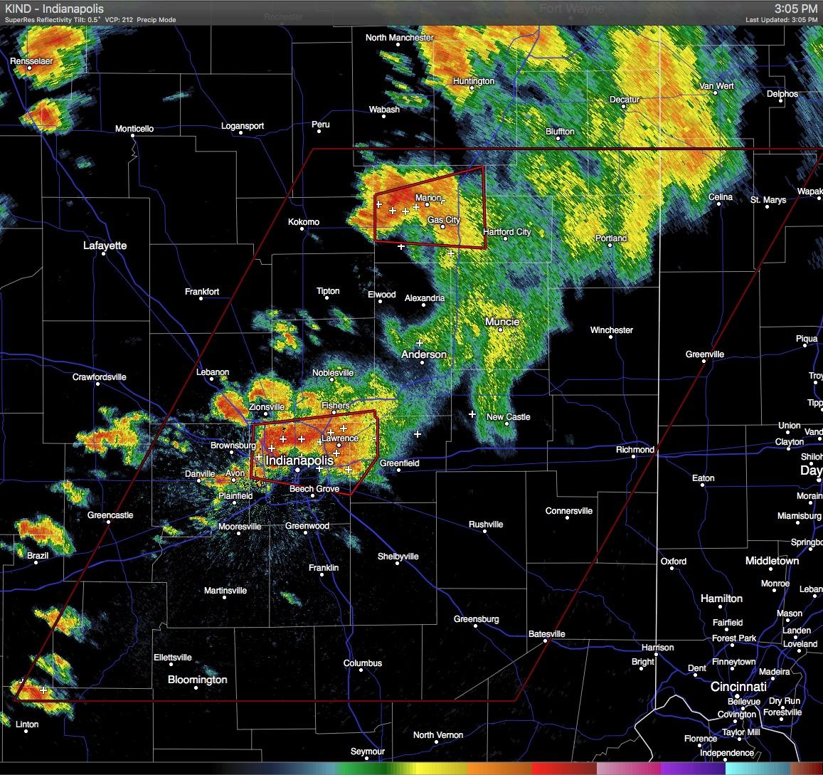 Severe Weather In Progress In Indiana Multiple Tornado Warnings