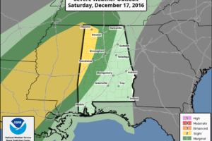 Severe Storms Possible Tomorrow Night