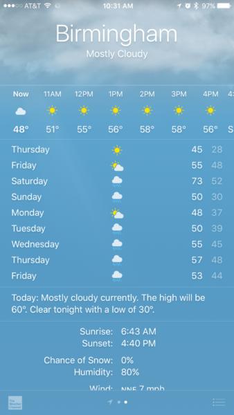 "The ""Crap App"" Dilemma – December 2016 | The Alabama Weather"