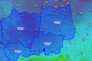 Hard Freeze Warning Issued for Tonight and Sunday Morning for Central Alabama