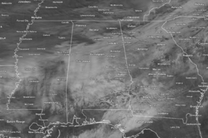 Mostly Cloudy, Cool, & Quite Breezy At Midday Across Central Alabama