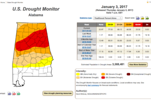 From U.S. Drought Monitor: Drought Conditions Improve Across Central Alabama