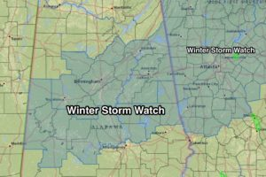 Winter Storm Watch Expanded Southward