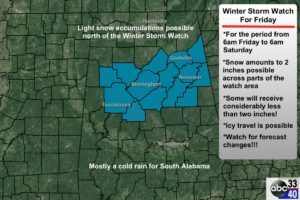 Winter Storm Watch For Friday