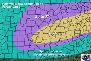 Winter Weather Ahead For Alabama Tomorrow