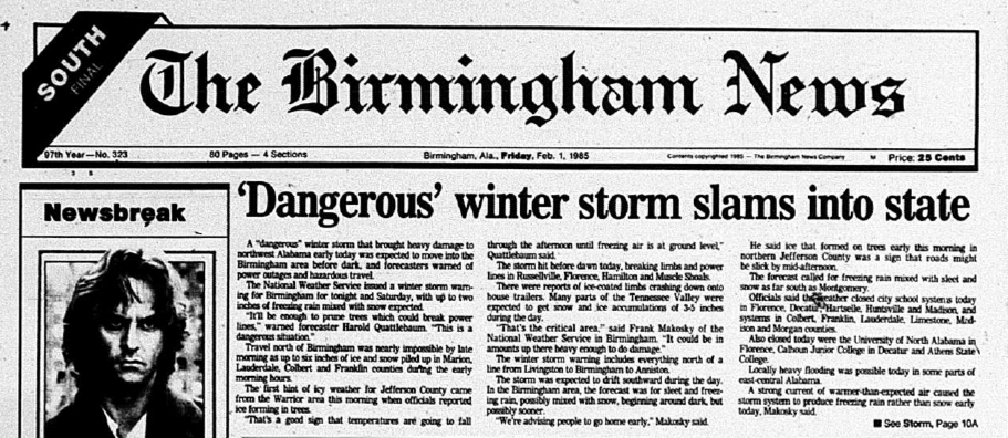 Today in Weather History: The Terrible 1985 North Alabama