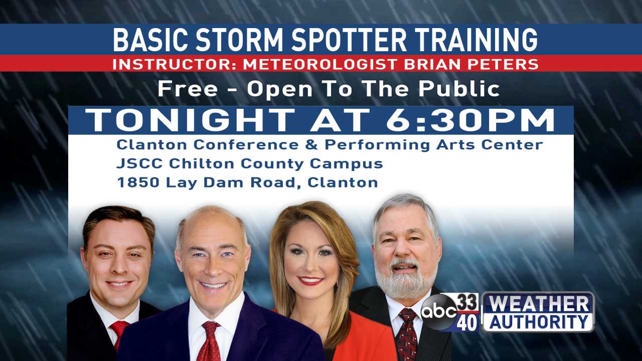 STORM SPOTTER TRAINING TONIGHT CLANTON
