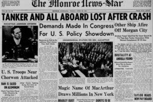 April 20, 1951:  Fog Causes Huge Tanker Crash in Gulf