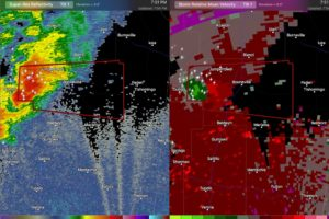 Potentially Tornadic Storm in Northeast Mississippi