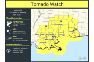 Tornado Watch for Southwest Alabama Until 9 a.m. CST