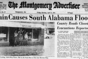 On This Date in 1975:  South Alabama Flooding