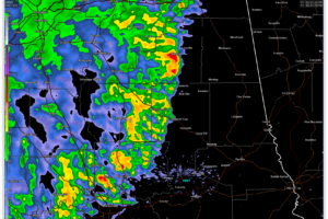 Strong Storms Affecting Randolph and Clay Counties
